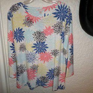 COPY - JM Collection Stretch Knit Floral Print To…